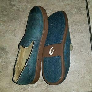Women's Olukai Kailua leather slip-on loafers